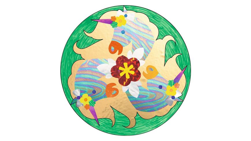 Ravensburger Beschaeftigung Metallic Mandala Designer Unicorn
