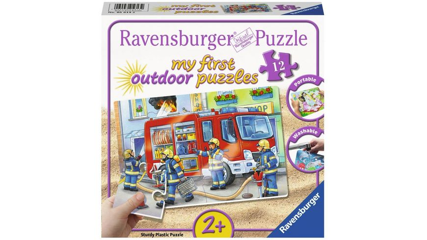 Ravensburger Puzzle my First Outdoor Puzzles Die Feuerwehr saust herbei 12 Teile