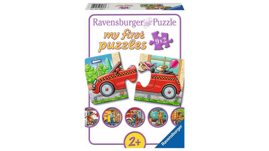 Ravensburger Puzzle my First Puzzle Allerlei Fahrzeuge 2 Teile
