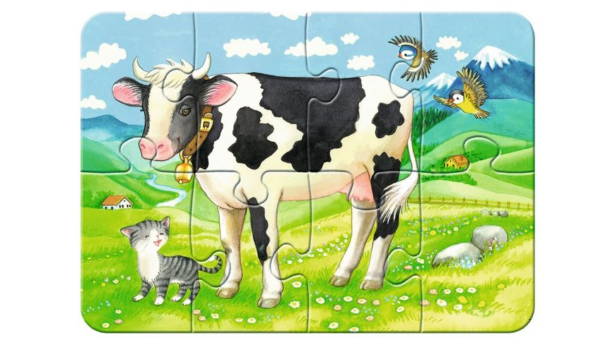 Ravensburger Puzzle my First Puzzles Unsere Lieblingstiere 2 4 6 8 Teile
