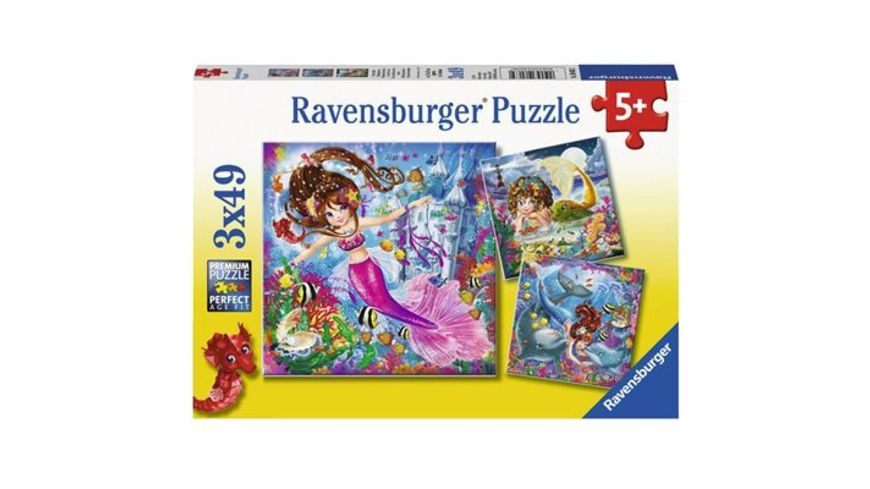 Ravensburger Puzzle Bezaubernde Meerjungfrauen 3 x 49 Teile