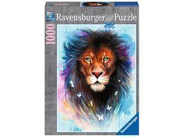Ravensburger Puzzle Majestaetischer Loewe 1000 Teile