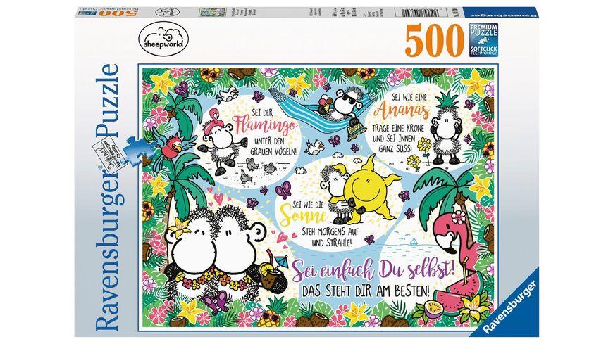 Ravensburger Puzzle Sheepworld Sei einfach Du selbst 500 Teile