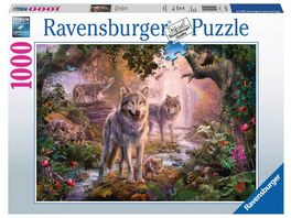 Ravensburger Puzzle Wolfsfamilie im Sommer 1000 Teile