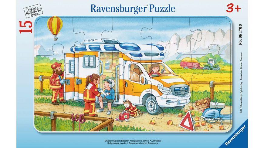 Ravensburger Puzzle Krankenwagen im Einsatz 15 Teile
