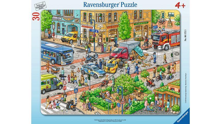 Ravensburger Puzzle Unterwegs in der Stadt 30 Teile