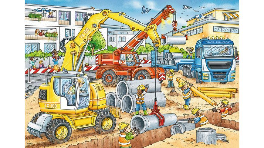 Ravensburger Puzzle Achtung Strassenbaustelle 2 x 12 Teile