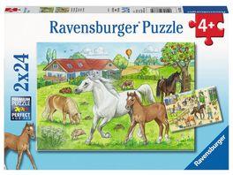 Ravensburger Puzzle Auf dem Pferdehof 2 x 24 Teile