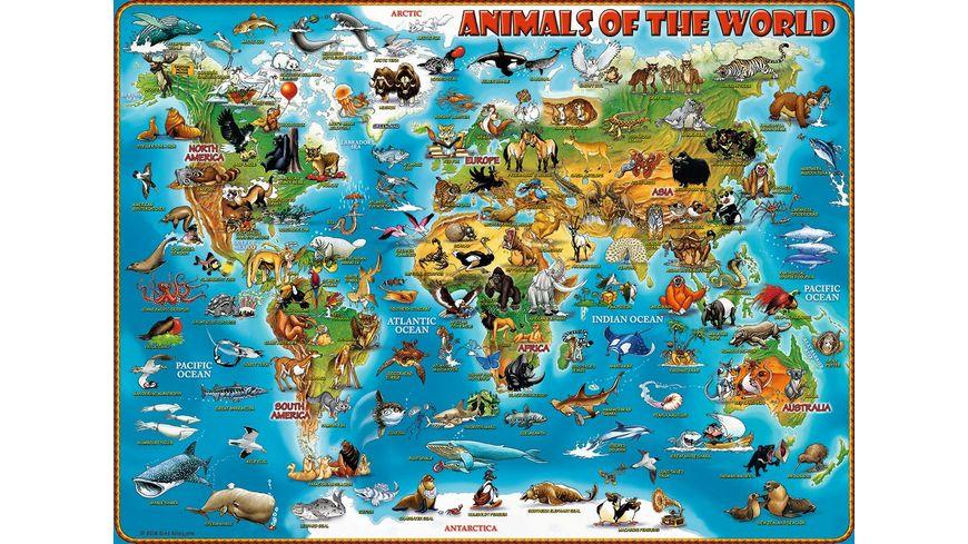 Ravensburger Puzzle Tiere rund um die Welt 300 XXL Teile