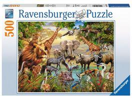 Ravensburger Puzzle Am Wasserloch 500 Teile
