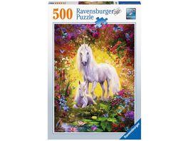 Ravensburger Puzzle Einhorn mit Fohlen 500 Teile