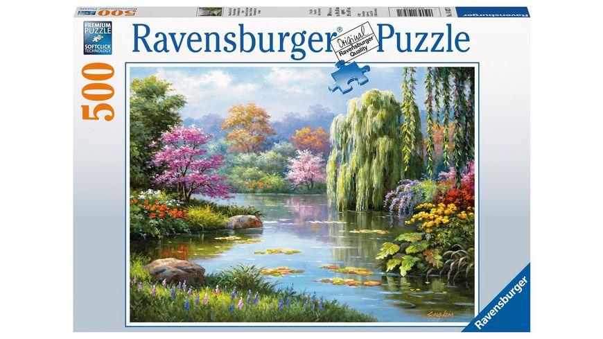 Ravensburger Puzzle Romantik am Teich 500 Teile