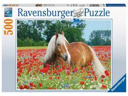 Ravensburger Puzzle Pferd im Mohnfeld 500 Teile