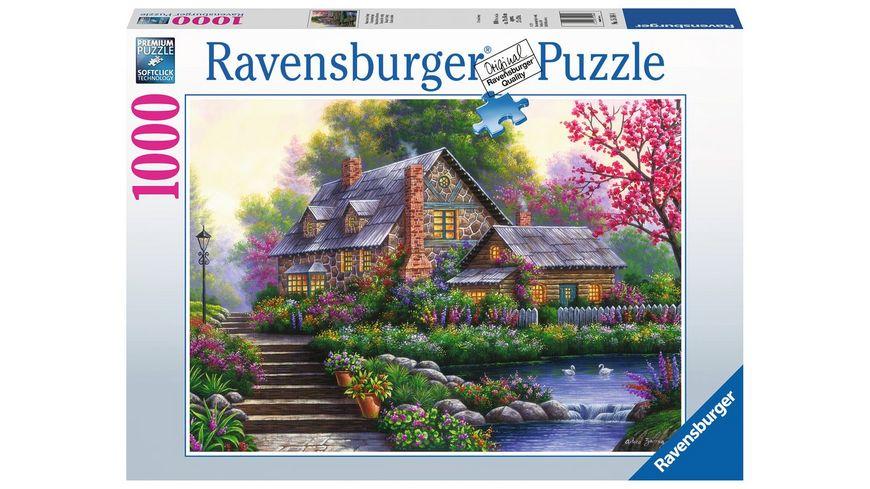 Ravensburger Puzzle Romantisches Cottage 1000 Teile
