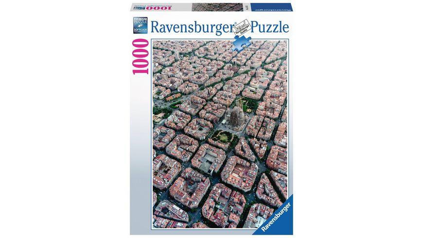 Ravensburger Puzzle Barcelona von Oben 1000 Teile
