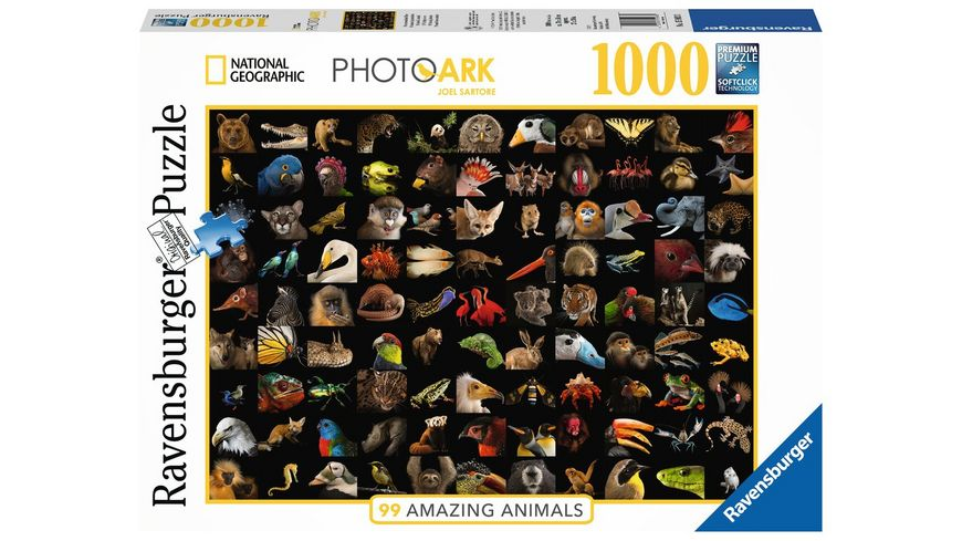 Ravensburger Puzzle 99 atemberaubende Tiere 1000 Teile