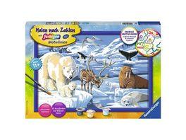 Ravensburger Spiel Malen nach Zahlen Tiere der Arktis