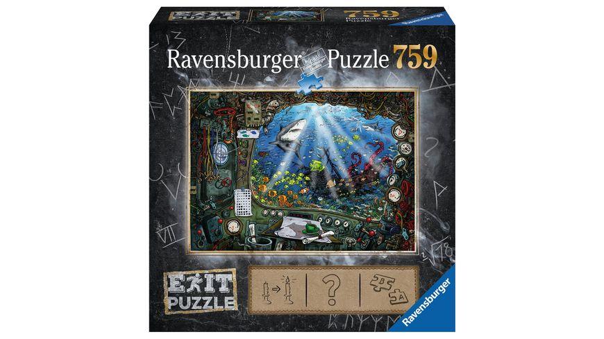 Ravensburger Puzzle EXIT Im U Boot 759 Teile