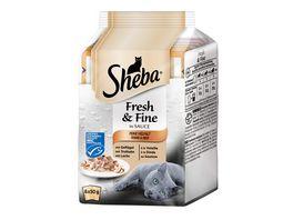 Sheba Katzennassfutter Fresh Fine in Sauce Feine Vielfalt MSC Multipack