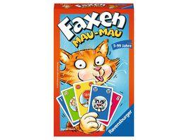 Ravensburger Spiel Faxen Mau Mau Kartenspiel ab 5 Jahren