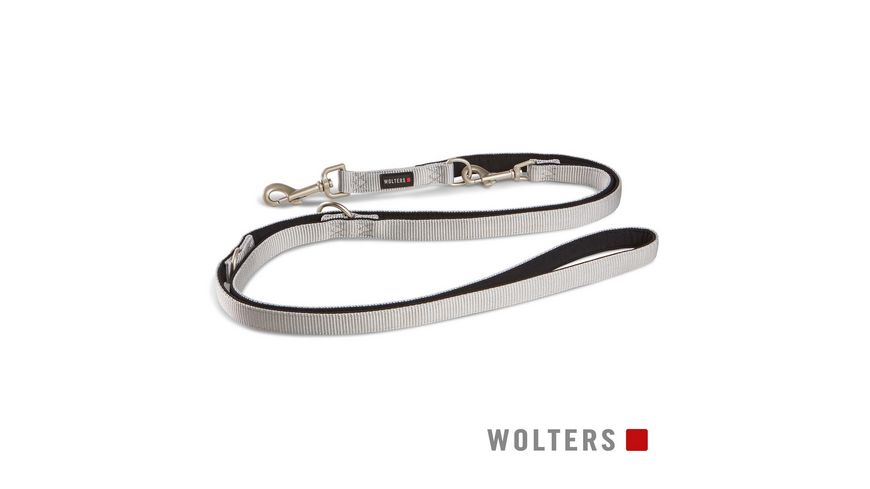 Wolters Professional Comfort Fuehrleine 200cm x 25mm silber
