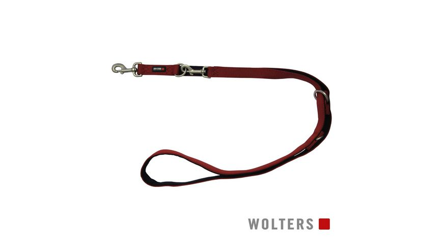 Wolters Professional Comfort Fuehrleine 300cm x 15mm rot