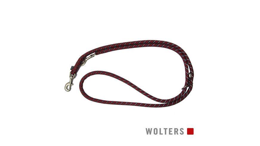 Wolters Everest Tauprogramm Fuehrleine 300cm x 9mm rot schwarz