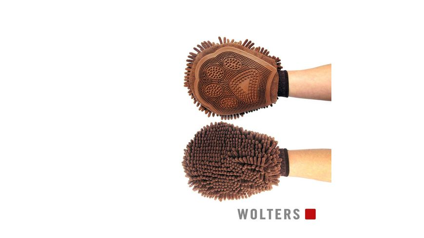 Wolters Dirty Dog Grooming Mitt 26 x 20cm braun