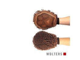 Wolters Dirty Dog Grooming Mitt 26 x 20cm braun