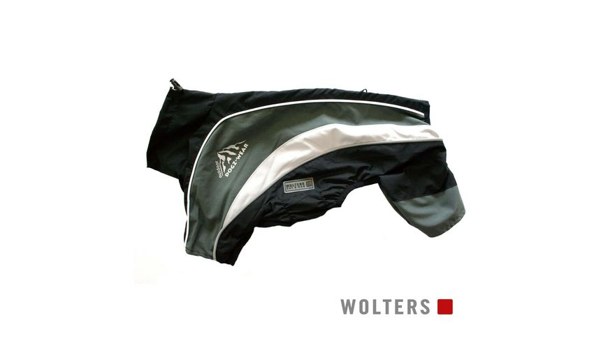Wolters Regenanzug Dogz Wear 46cm schwarz grau