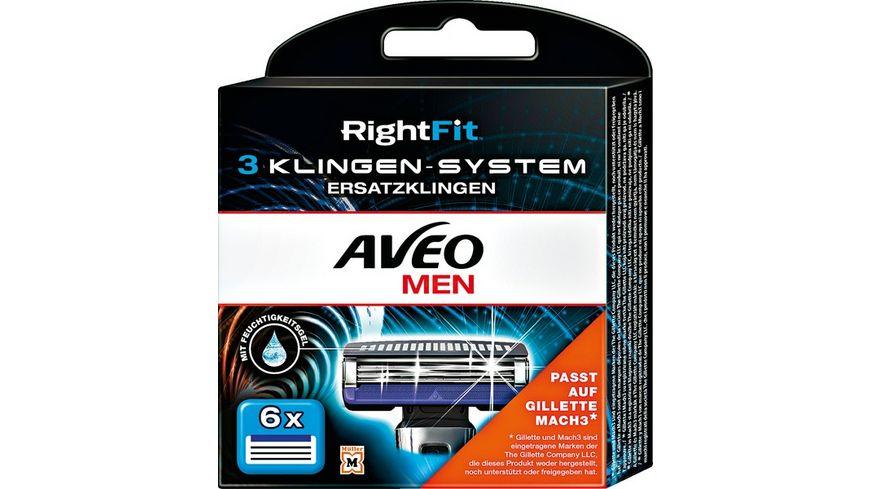AVEO MEN RightFit 3 Klingen System Ersatzklingen
