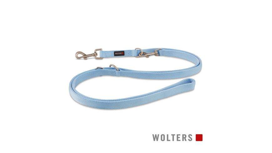 Wolters Professional Fuehrleine lang 300cm x 15mm skyblu