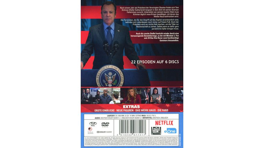 Designated Survivor Staffel 2 6 DVDs