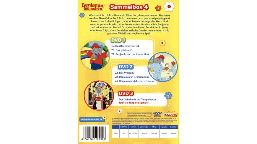Benjamin Bluemchen Box 4 3 DVDs