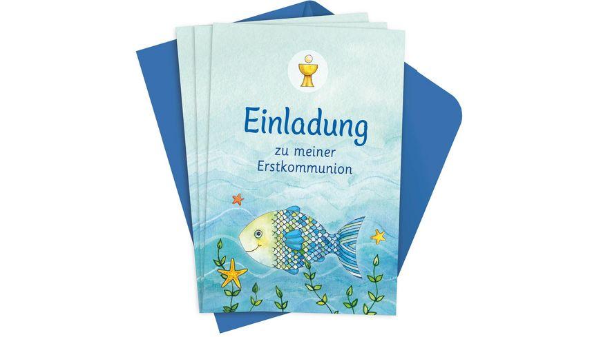 Der Wunschfisch Einladungskarten zur Erstkommunion