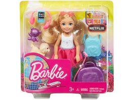 Mattel Barbie Reise Chelsea Puppe und Zubehoer