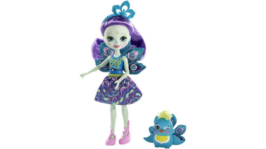 Mattel Enchantimals Patter Peacock und Flap