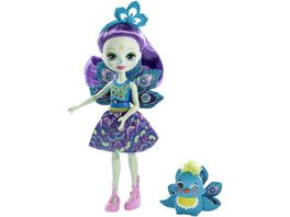 Mattel Enchantimals Patter Peacock und Flap