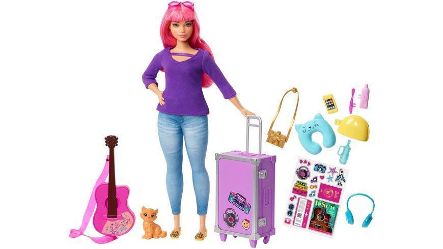 Mattel Barbie Reise Puppe pink und Zubehoer