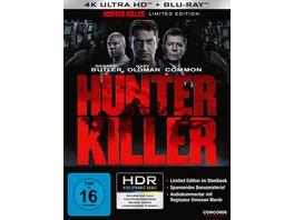 Hunter Killer Steelbook LE 4K Ultra HD Blu ray 2D