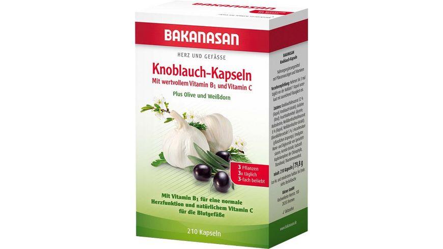 BAKANASAN Knoblauch Weissdorn Olive