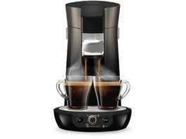 PHILIPS Senseo Viva Cafe Kaffeepadmaschine HD6566 50 schwarz beluga