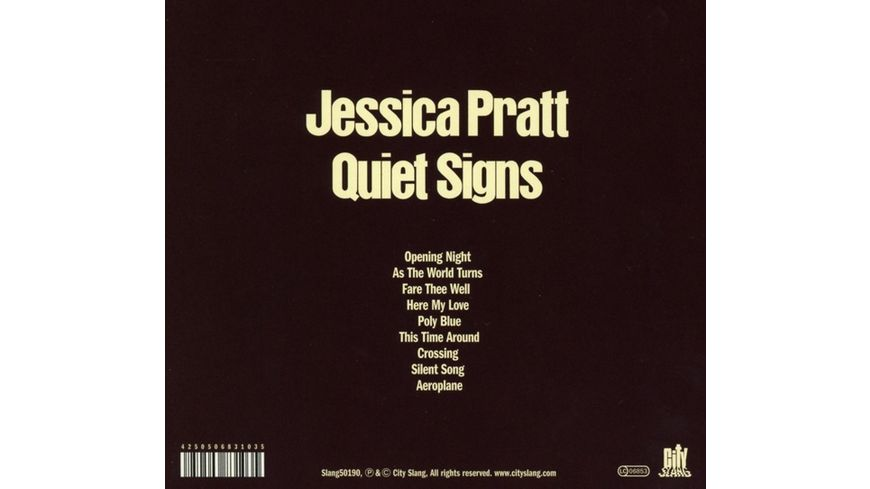 Quiet Signs Digipak