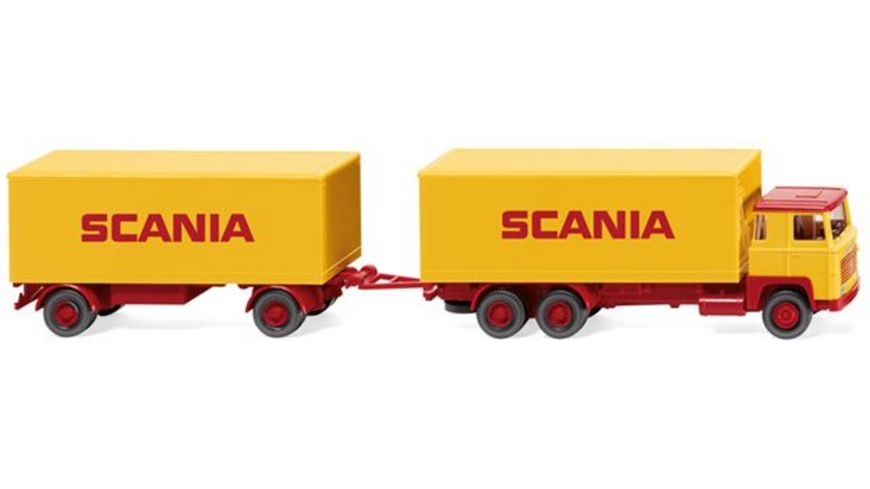 Wiking 045702 Kofferhaengerzug Scania 111 SCANIA 1 87