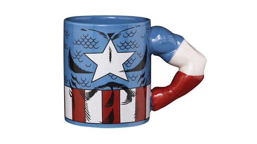 Marvel Tasse Captain America 3D Arm
