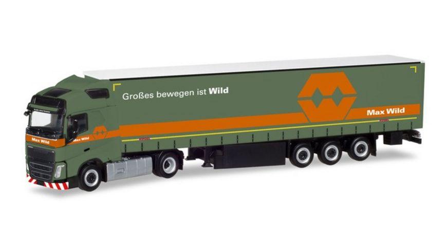 Herpa 309288 Volvo FH GL Gardinenplanen Sattelzug Max Wild