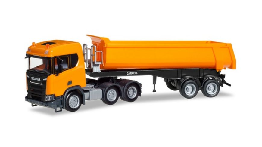 Herpa 309394 Scania CR ND XT 6x2 Rundmulden Sattelzug kommunalorange