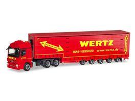 Herpa 309431 Mercedes Benz Actros L 6x4 Meusburger Sattelzug Wertz Aachen