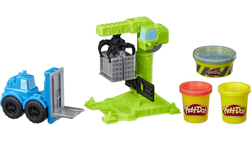 Hasbro Play Doh Kran und Gabelstapler