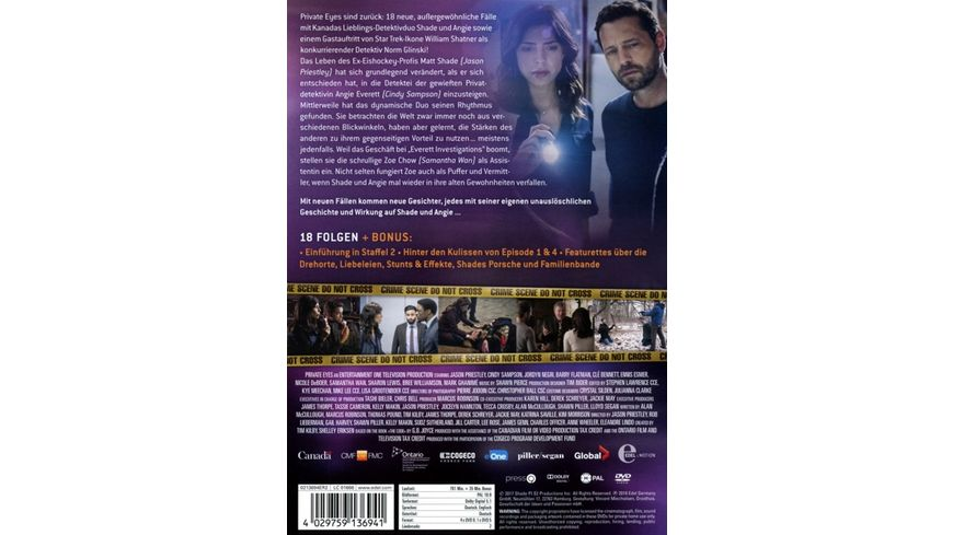 Private Eyes Staffel 2 5 DVDs